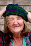 Homeless woman. Royalty Free Stock Photography