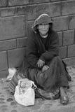Homeless woman Stock Photography