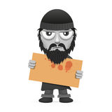 Homeless worker need job Royalty Free Stock Photography