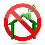 Homelessnes green and red icon Royalty Free Stock Photos