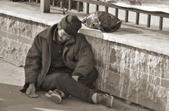 Homelessness Muslim man Royalty Free Stock Photos