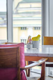 Homelike empty cafe interior Royalty Free Stock Images