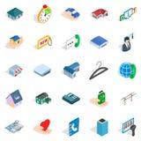 Homelike icons set, isometric style. Homelike icons set. Isometric set of 25 homelike vector icons for web isolated on white background Stock Photo