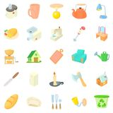 Homeliness icons set, cartoon style Royalty Free Stock Photo