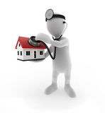 Homeloan Health Checkup. Doctor checking the health of a house Stock Photography