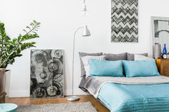 Homely bedroom interior Royalty Free Stock Photos