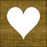 Homely burlap σύμβολο του όμορφου πλαισίου καρδιών ή sackcloth ελεύθερη απεικόνιση δικαιώματος