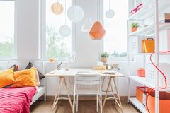 Homely girl's room Stock Images