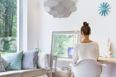 Homely girl's room Royalty Free Stock Photos