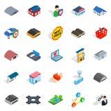 Homely icons set, isometric style Stock Photo