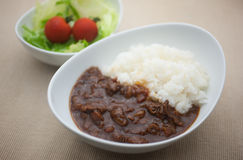 Homely Japanese curry Royalty Free Stock Image