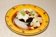 Homely old bean curd. China dish-Homely old bean curd Stock Photography