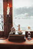 Homely wnter concept of window sill Stock Photo