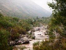Homem河的谷, Peneda-Gerês国家公园在北葡萄牙 图库摄影