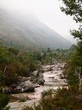 Homem河的谷, Peneda-Gerês国家公园在北葡萄牙 免版税库存图片