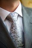 Homem à moda em um terno e em um laço imagem de stock