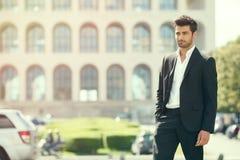 Homem à moda lindo 'sexy' Estilo da cidade fotografia de stock