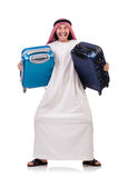 Homem árabe com bagagem Fotografia de Stock
