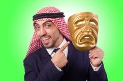 Homem árabe com máscara Imagem de Stock Royalty Free