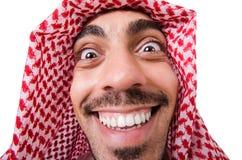 Homem árabe engraçado imagem de stock
