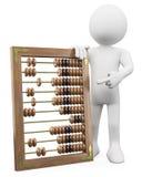 homem 3D com um ábaco enorme Imagem de Stock Royalty Free