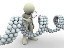 homem 3d e ADN ilustração do vetor
