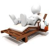 homem 3d que relaxa tendo uma boa estadia Imagens de Stock Royalty Free