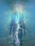Homem abstrato da luz ilustração royalty free