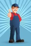 Homem acessível otimista Fotografia de Stock Royalty Free