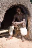 Homem africano do tribo Zulu fotos de stock