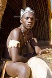 Homem africano do tribo Zulu fotografia de stock