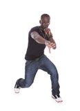 Homem africano novo que canta Imagem de Stock
