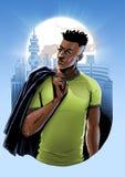 Homem africano ocasional Foto de Stock