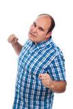 Homem agressivo irritado furioso Imagem de Stock