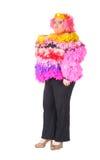 Homem alegre, rainha de arrasto, em um terno fêmea Imagens de Stock Royalty Free