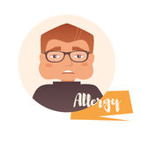 Homem, alergia Vetor Imagem de Stock Royalty Free