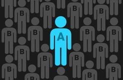 Homem alfa e beta ilustração royalty free