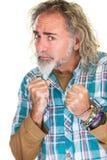 Homem ambicioso com punhos apertados Imagens de Stock Royalty Free