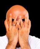 Homem amedrontado Fotografia de Stock