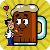 Homem & cerveja Fotografia de Stock Royalty Free