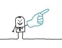 Homem & dedo Fotografia de Stock