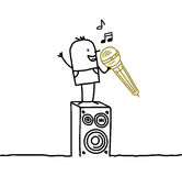 Homem & karaoke Imagens de Stock Royalty Free