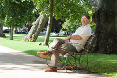 Homem aposentado Imagem de Stock Royalty Free