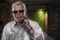 Homem aposentado com personalidade forte Imagem de Stock