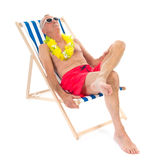 Homem aposentado em férias imagem de stock royalty free