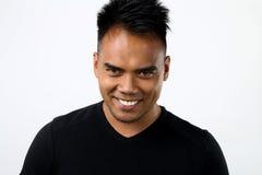homem asiático com um olhar diabólico imagem de stock royalty free