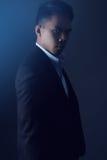 Homem asiático considerável que veste um terno imagem de stock