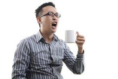 Homem asiático de bocejo Fotos de Stock