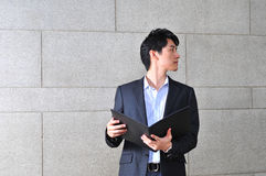 Homem asiático de vista ocasional esperto Imagens de Stock Royalty Free