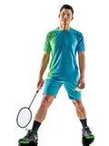 Homem asiático do jogador do badminton Fotografia de Stock